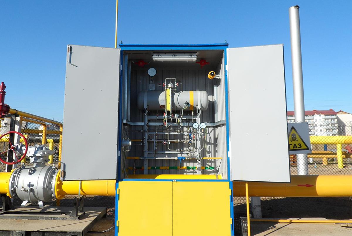 Блок одоризации газа